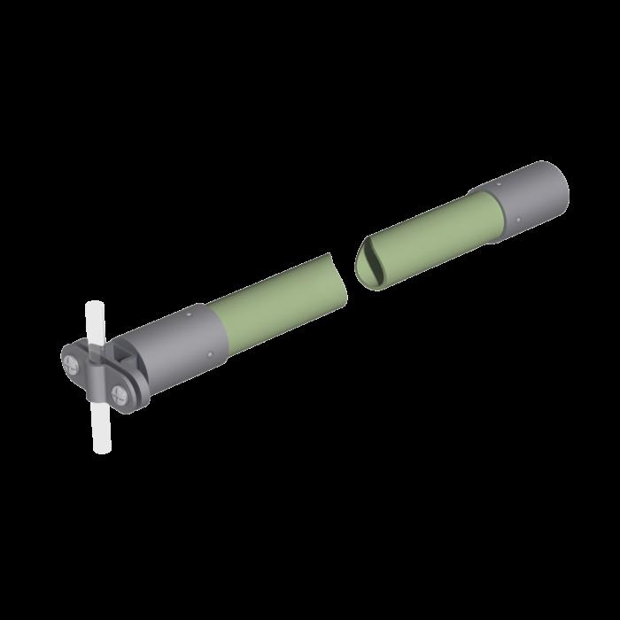 Ізоляційна штанга H24 LEO LIGHTMAN блискавкозахист грозозахист громовідвід блискозахист
