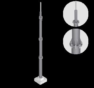 M10 Окремостоячий блискавкоприймач LEO LIGHTMAN блискавкозахист