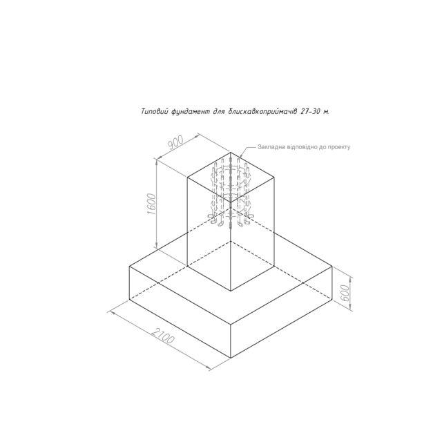 M20 Анкерна основа для фундаменту LEO LIGHTMAN блискавкозахист