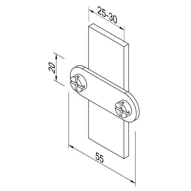 H09/3 Пластина Fix для полоси LEO LIGHTMAN блискавкозахист