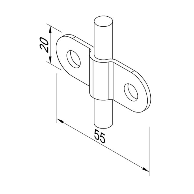 H09/1 Пластина Fix D8 LEO LIGHTMAN блискавкозахист